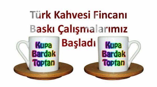 Türk Kahvesi Fincanı Baskı Çalışması